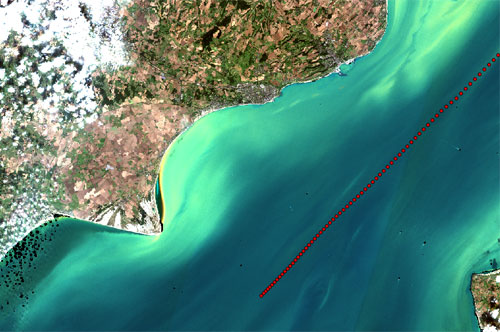 Sentinel 2 ocean colour, September 2016, English Channel